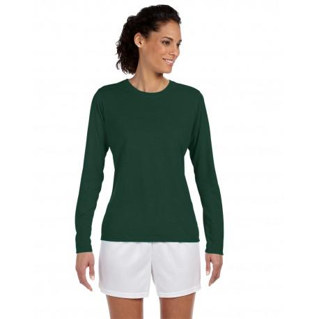 G424L Gildan G424L Ladies' Performance Ladies' 5 oz. Long-Sleeve T-Shirt FOREST GREEN