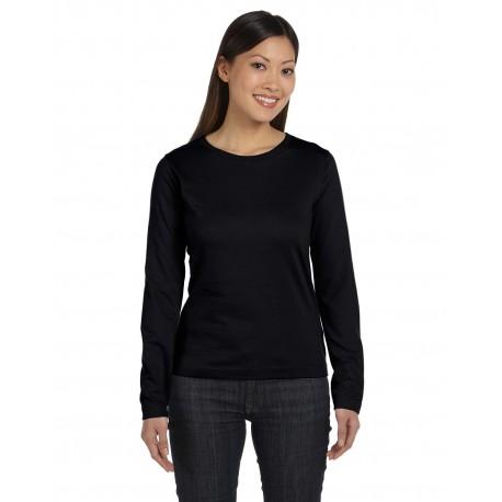 3588 LAT 3588 Ladies' Long-Sleeve Premium Jersey T-Shirt BLACK