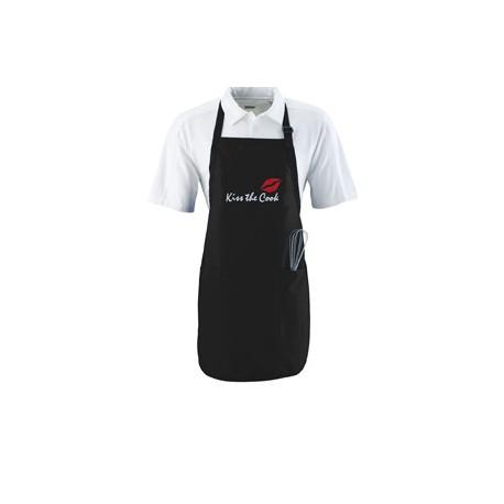 4350 Augusta Sportswear 4350 Full Length Apron With Pockets BLACK