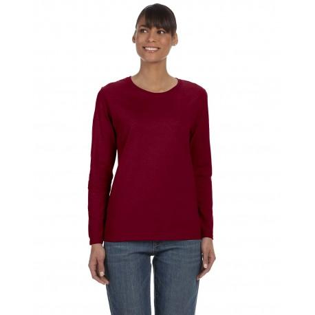 G540L Gildan G540L Ladies' 5.3 oz. Long-Sleeve T-Shirt GARNET