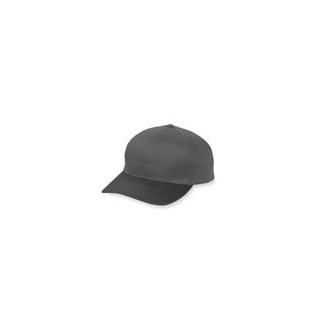 6206 Augusta Sportswear 6206 Youth 6-Panel Cotton Twill Low Profile Cap BLACK