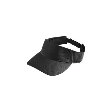 6226 Augusta Sportswear 6226 Youth Sport Twill Visor BLACK