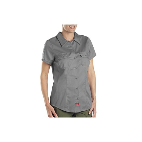 FS574 Dickies FS574 Ladies' 5.25 oz. Twill Shirt GRAPHITE