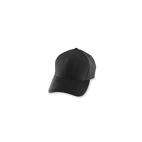 6235 Augusta Sportswear 6235 Athletic Mesh Cap BLACK