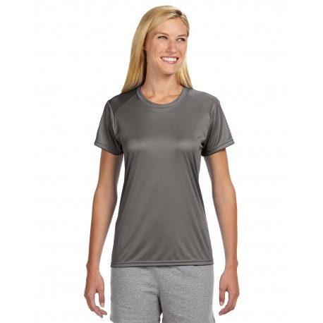 NW3201 A4 NW3201 Ladies' Short-Sleeve Cooling Performance Crew GRAPHITE