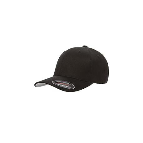 6377 Flexfit 6377 Adult Brushed Twill Cap BLACK