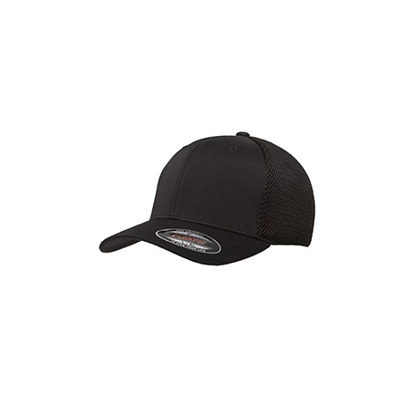 6533 Flexfit 6533 Adult Ultrafibre and Airmesh Cap BLACK