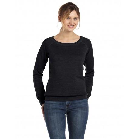 7501 Bella + Canvas 7501 Ladies' Sponge Fleece Wide Neck Sweatshirt BLACK