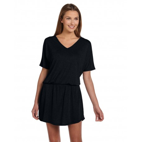 8812 Bella + Canvas 8812 Ladies' Flowy V-Neck Dress BLACK