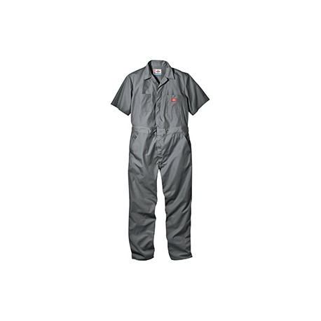 33999 Dickies 33999 Men's 5 oz. Short-Sleeve Coverall GRAY XL