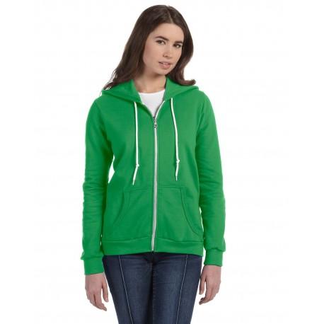 71600L Anvil 71600L Ladies' Full-Zip Hooded Fleece GREEN APPLE