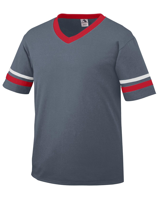 360 Augusta Sportswear GRPHITE/RED/WH