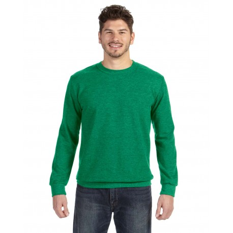 72000 Anvil 72000 Adult Crewneck French Terry HEATHER GREEN
