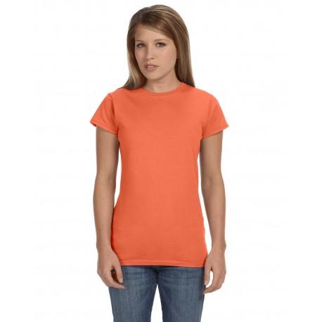 G640L Gildan G640L Ladies' Softstyle 4.5 oz. Fitted T-Shirt HEATHER ORANGE
