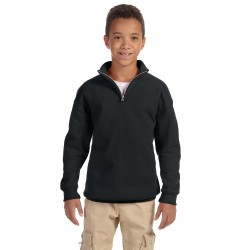 Jerzees 995Y Youth 8 oz. NuBlend Quarter-Zip Cadet Collar Sweatshirt