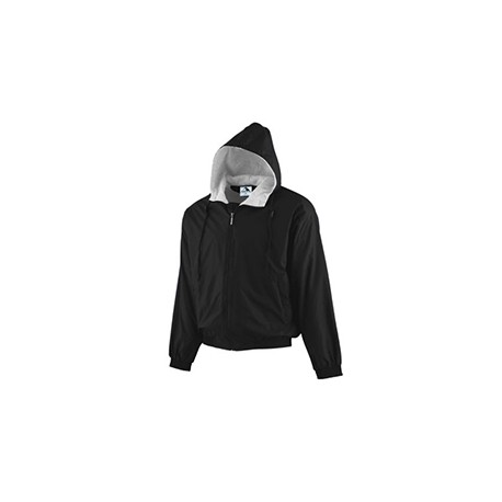A3281 Augusta Sportswear A3281 Youth Hood Taffeta Jacket BLACK