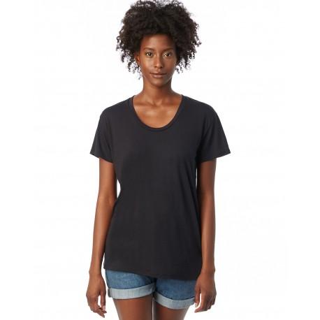 AA2620 Alternative AA2620 Ladies' Kimber Melange Burnout T-Shirt BLACK