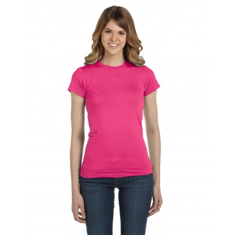 379 Anvil 379 Ladies' Lightweight Fitted T-Shirt HOT PINK