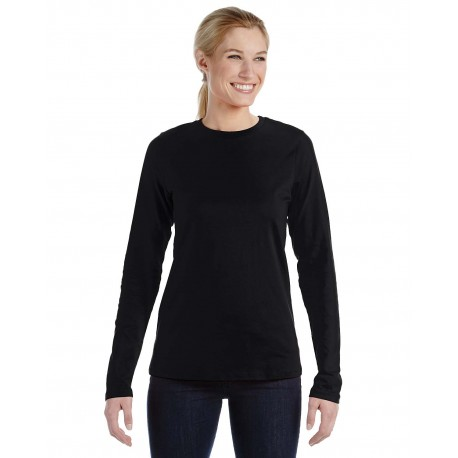 B6450 Bella + Canvas B6450 Ladies' Relaxed Jersey Long-Sleeve T-Shirt BLACK