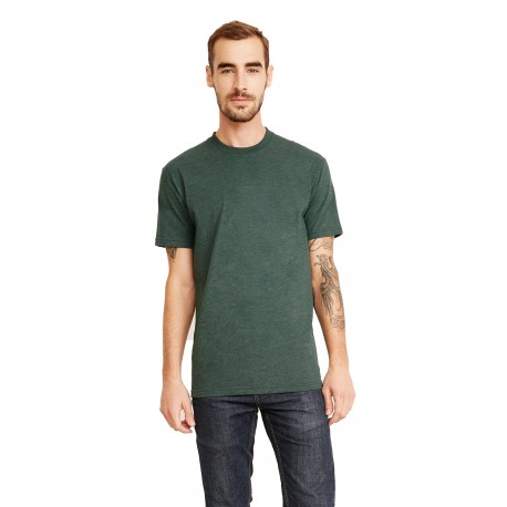 6410 Next Level 6410 Men's Sueded Crew HTH FOREST GREEN
