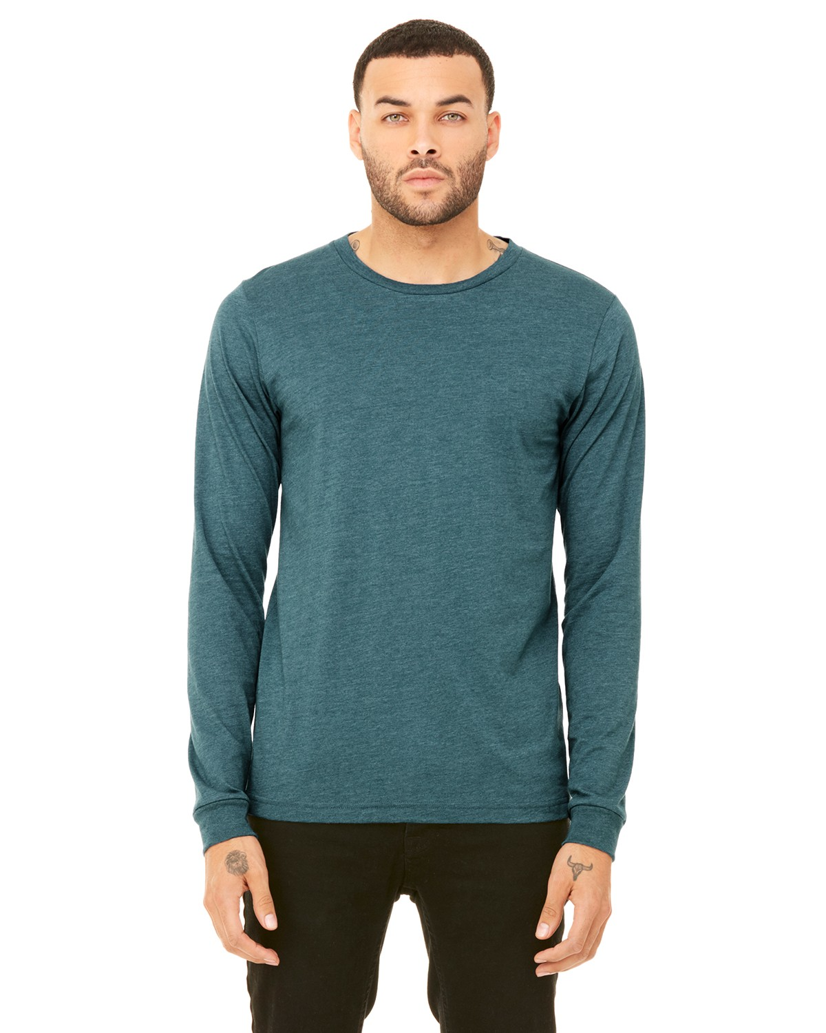 3501 Bella + Canvas HTHR DEEP TEAL