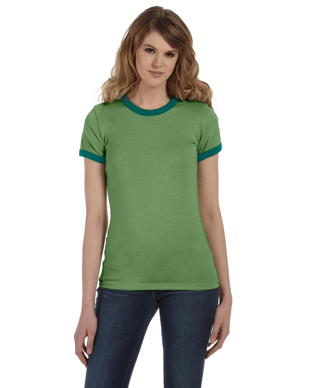 B6050 Bella + Canvas HTHR GREEN/FOR