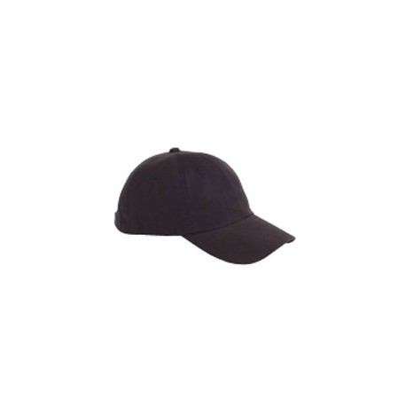 BX001 Big Accessories BX001 6-Panel Brushed Twill Unstructured Cap BLACK