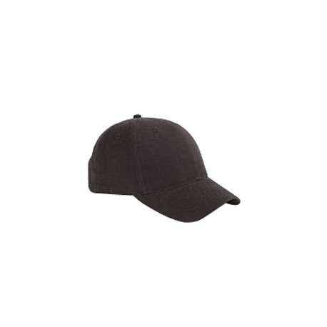 BX002 Big Accessories BX002 6-Panel Brushed Twill Structured Cap BLACK