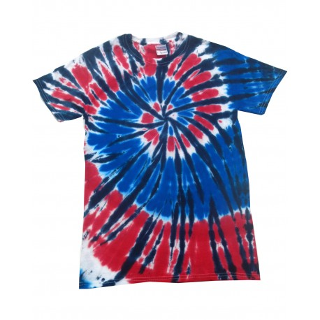 CD100 Tie-Dye CD100 Adult 5.4 oz., 100% Cotton Tie-Dyed T-Shirt INDEPENDENCE