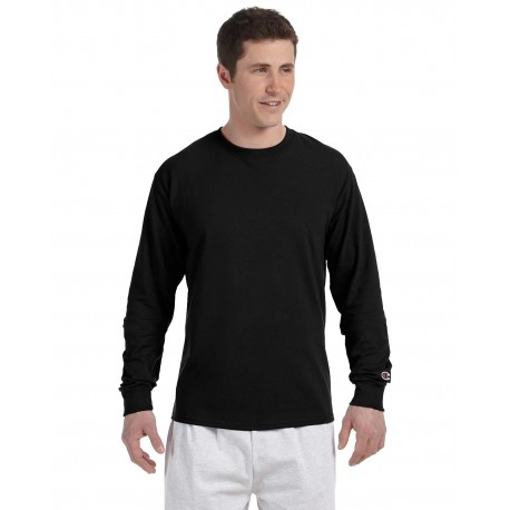 CC8C Champion CC8C Adult 5.2 oz. Long-Sleeve T-Shirt BLACK