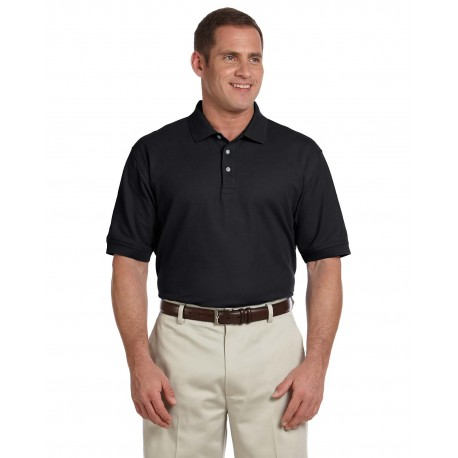 D100T Devon & Jones D100T Men's Tall Pima Pique Short-Sleeve Polo BLACK