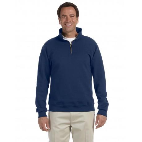 4528 Jerzees 4528 Adult 9.5 oz. Super Sweats NuBlend Fleece Quarter-Zip Pullover J NAVY