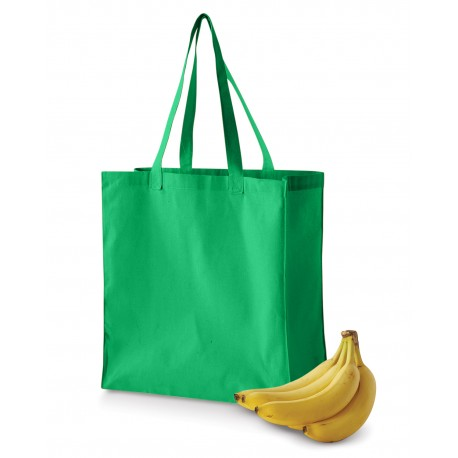 BE055 BAGedge BE055 6 oz. Canvas Grocery Tote KELLY GREEN