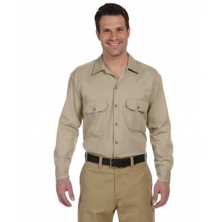 574 Dickies 574 Unisex Long-Sleeve Work Shirt KHAKI