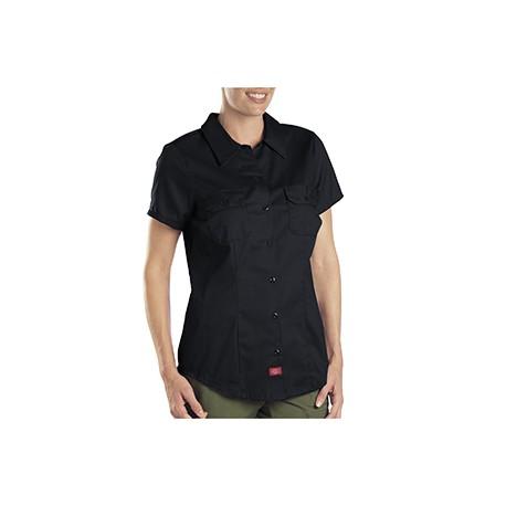 FS574 Dickies FS574 Ladies' 5.25 oz. Twill Shirt BLACK