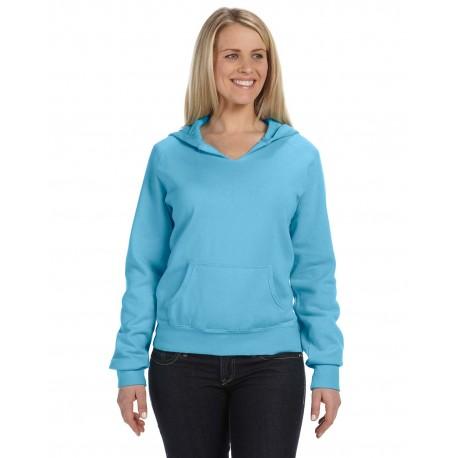 C1595 Comfort Colors C1595 Ladies' Hooded Sweatshirt LAGOON BLUE