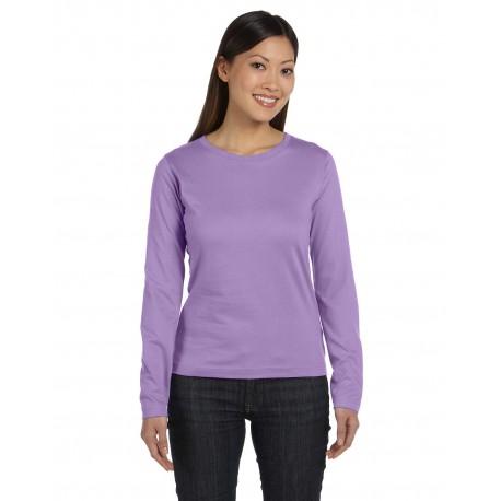 3588 LAT 3588 Ladies' Long-Sleeve Premium Jersey T-Shirt LAVENDER