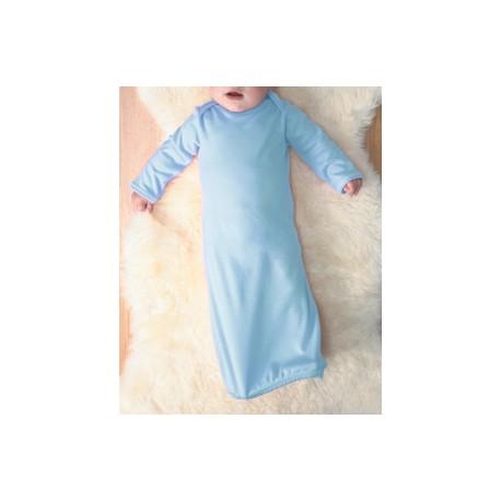 4406 Rabbit Skins 4406 Infant Baby Rib Layette LIGHT BLUE