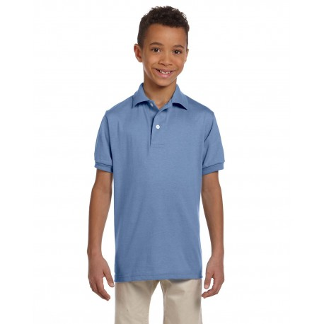 437Y Jerzees 437Y Youth 5.6 oz. SpotShield Jersey Polo LIGHT BLUE