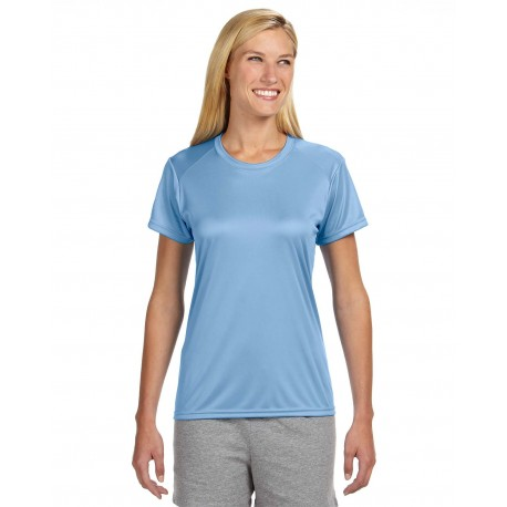 NW3201 A4 NW3201 Ladies' Short-Sleeve Cooling Performance Crew LIGHT BLUE