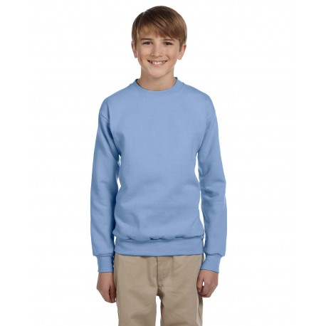 P360 Hanes P360 Youth 7.8 oz. ComfortBlend EcoSmart 50/50 Fleece Crew LIGHT BLUE