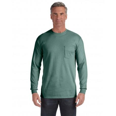 C4410 Comfort Colors C4410 Adult Heavyweight RS Long-Sleeve Pocket T-Shirt LIGHT GREEN