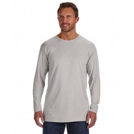 498L Hanes 498L Adult 4.5 oz., 100% Ringspun Cotton nano-T Long-Sleeve T-Shirt LIGHT STEEL