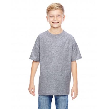 498Y Hanes 498Y Youth 4.5 oz., 100% Ringspun Cotton nano-T T-Shirt LIGHT STEEL