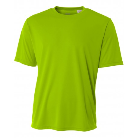 NB3142 A4 NB3142 Youth Short-Sleeve Cooling Performance Crew LIME