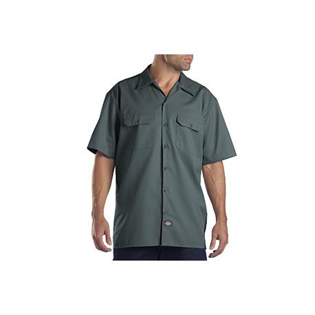 1574 Dickies 1574 Unisex Short-Sleeve Work Shirt LINCOLN GREEN