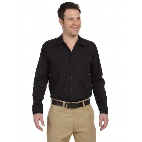 LL535 Dickies LL535 Men's 4.25 oz. Industrial Long-Sleeve Work Shirt BLACK