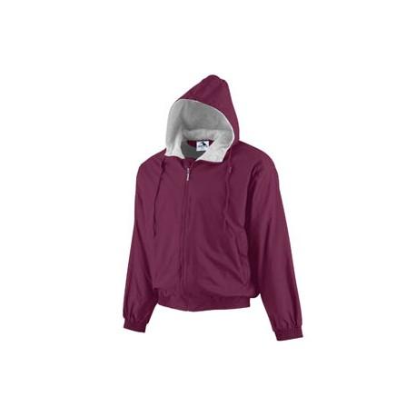 3280 Augusta Sportswear 3280 Hooded Taffeta Jacket MAROON