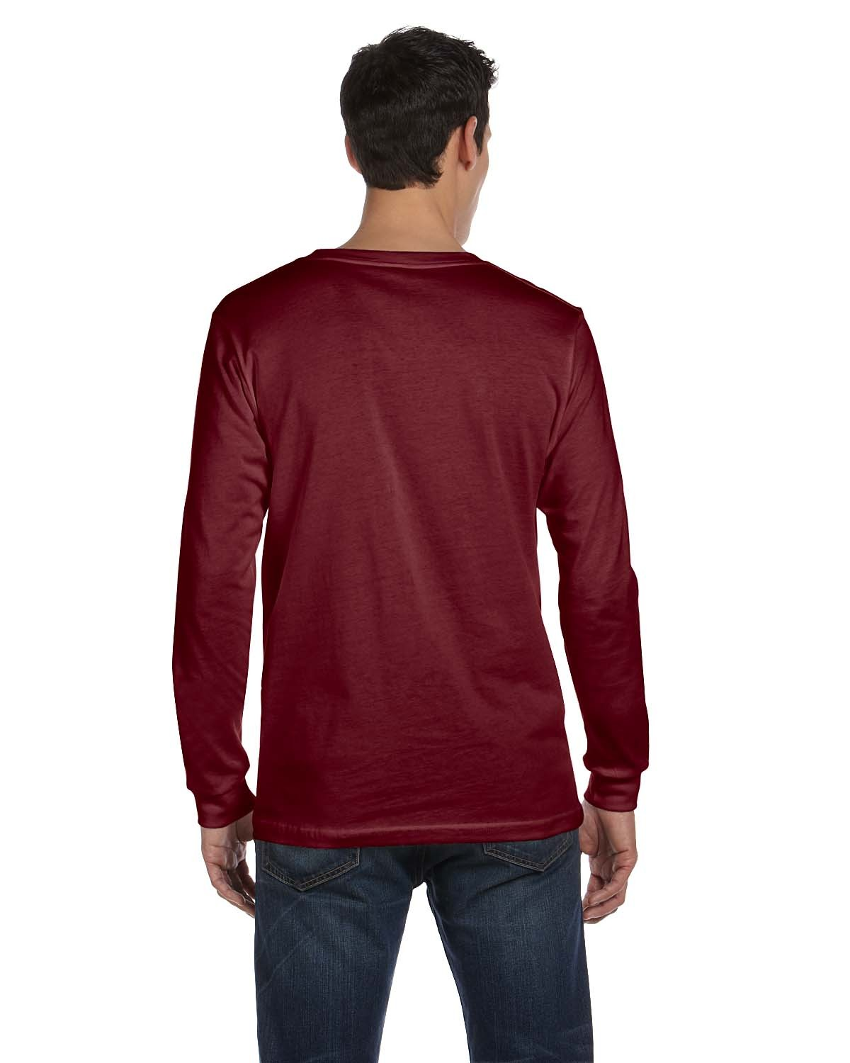 3501 Bella + Canvas MAROON TRIBLEND