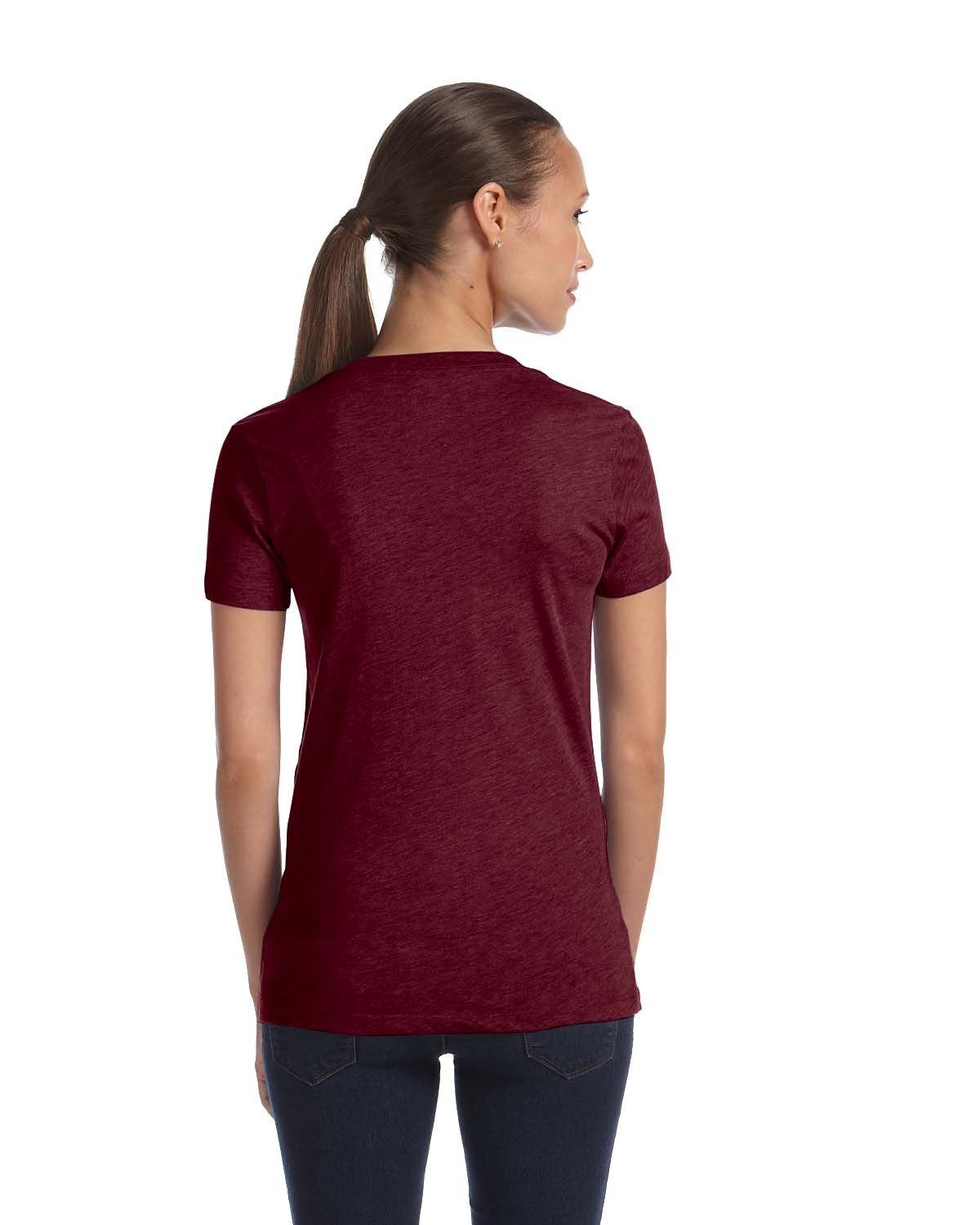 8435 Bella + Canvas MAROON TRIBLEND